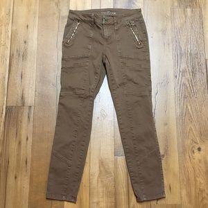 WHBM Brown Skimmer Pants